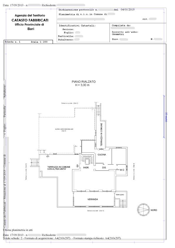 Planimetria catastale a 8 90 tecnicoweb - Successione catasto ...